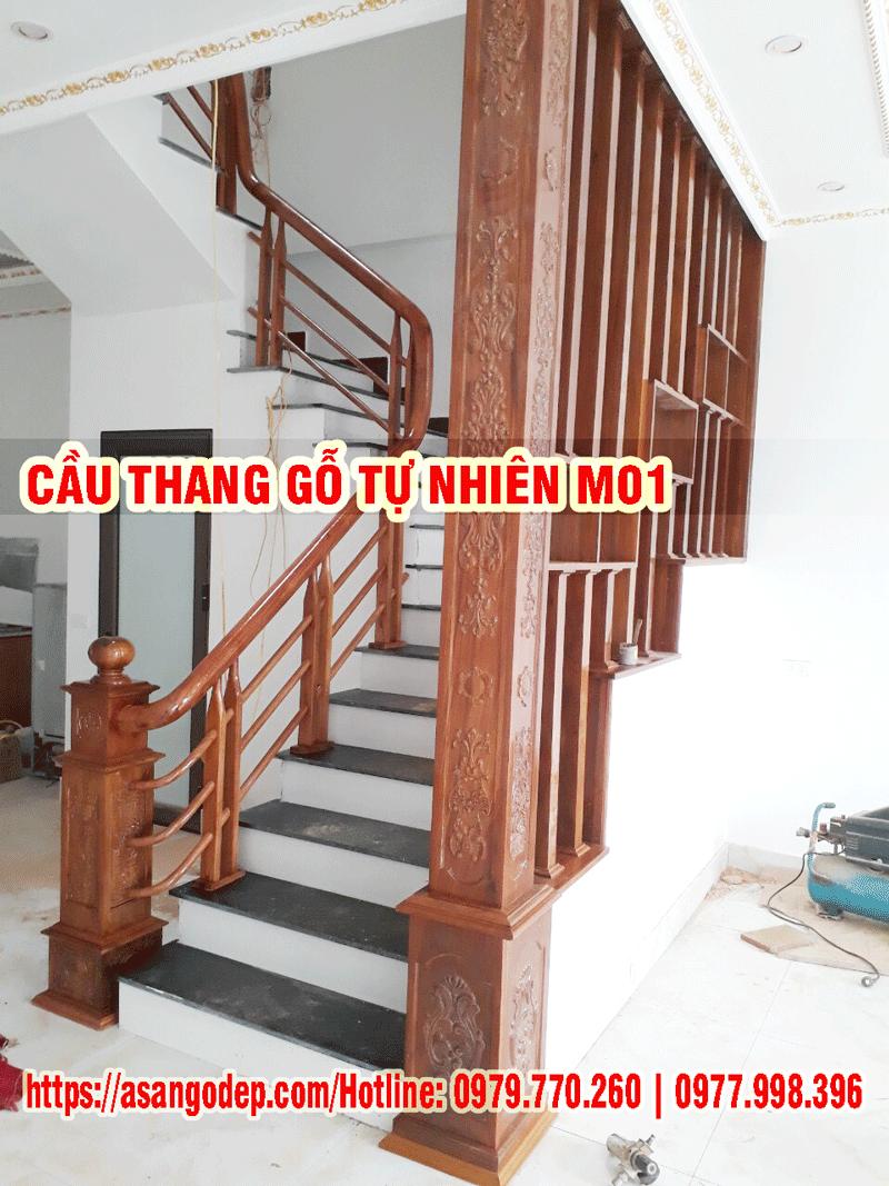 Mẫu cầu thang gỗ M01
