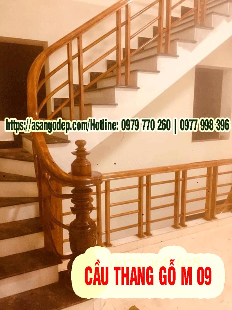 Cầu thang gỗ mẫu 09