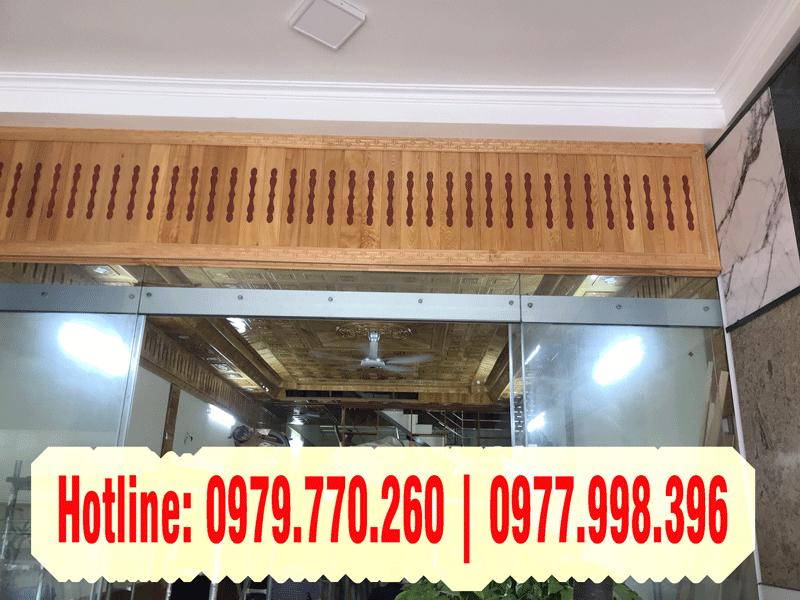 Mẫu trần gỗ pơmu đẹp thi công tại TP Hưng Yên tỉng Hưng Yên