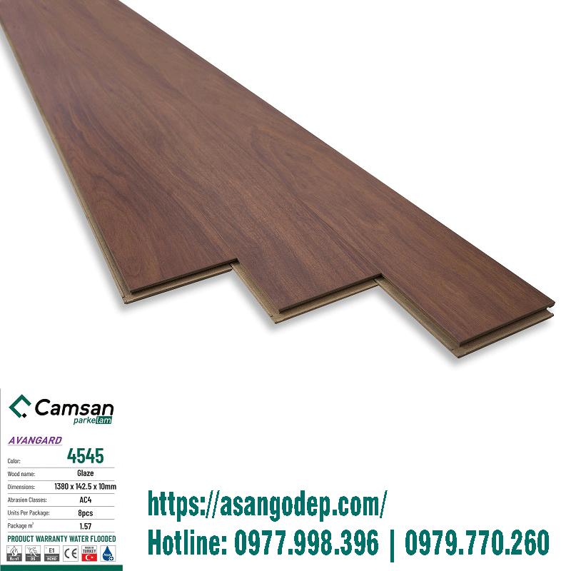 Sàn gỗ Camsan mã 4545 hàng 10mm