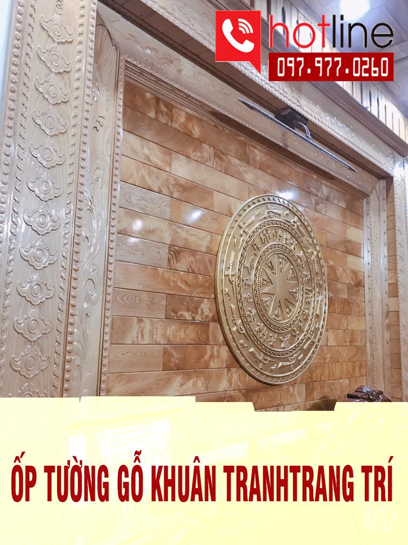 Mẫu ốp tường gỗ Pơmu trang trí