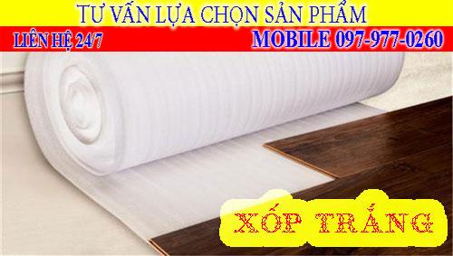 Xốp trắng lót sàn gỗ 2mm, 3mm