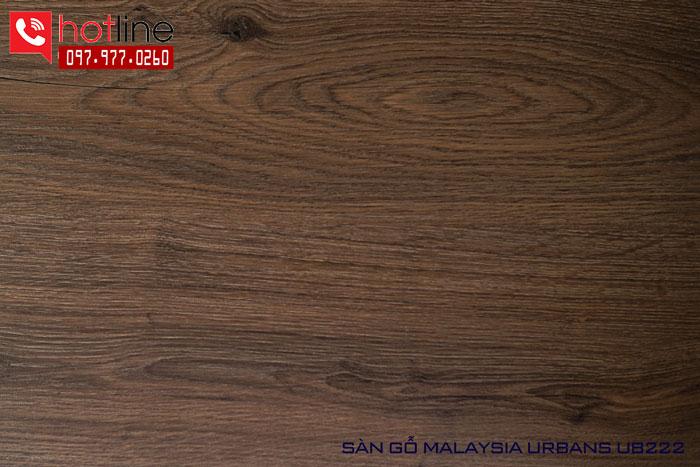 Sàn gỗ Urbans 8mm UB 222