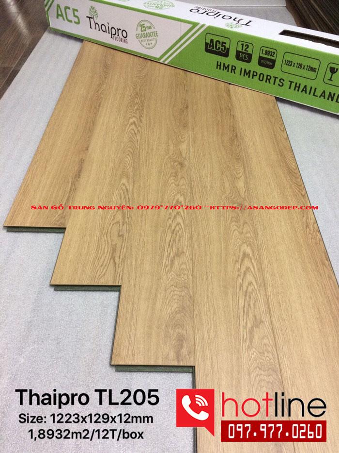 Sàn gỗ thaipro 12mm cốt xanh