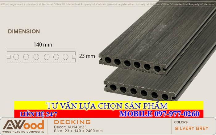 Sàn gỗ AWood HD140x25-4 Darkgrey