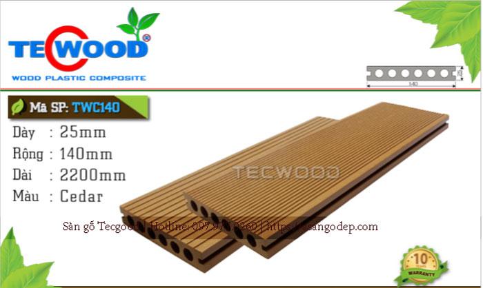 Sàn gỗ Tecwood TWA 140 lỗ tròn