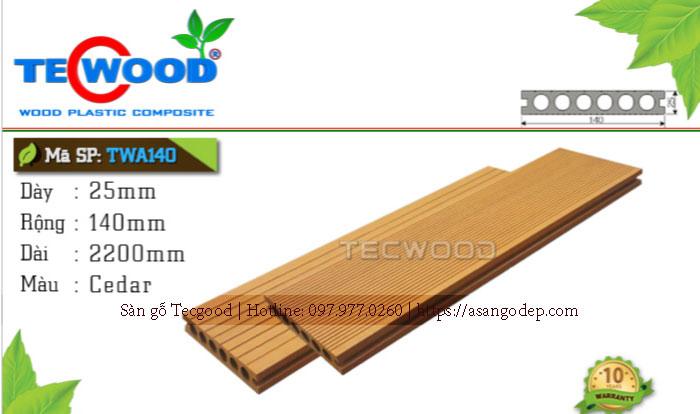 Sàn gỗ ngoài trời Tecwood TWA140