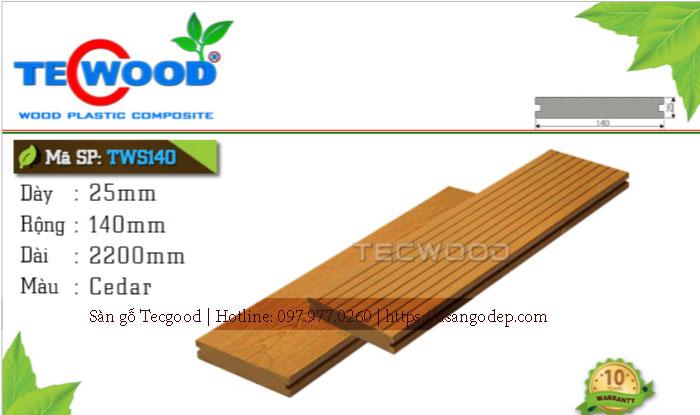 Sàn gỗ ngoài trời Tecwood TWS140