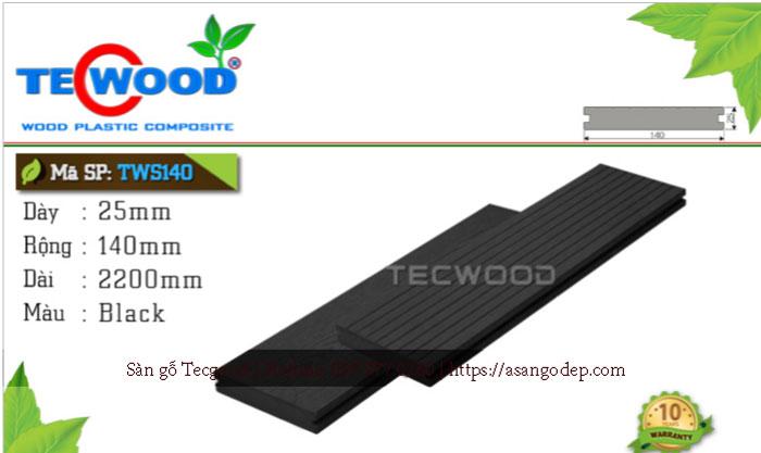 Sàn gỗ ngoài trời Tecwood TWS140 Black