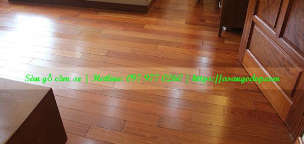 Sàn gỗ tự nhiên căm xe 15x90x600