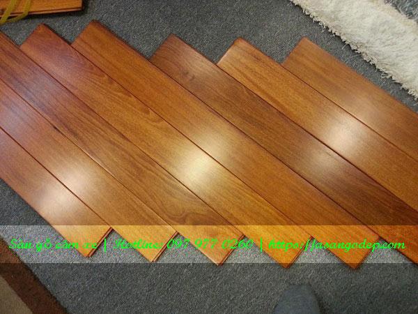 Sàn gỗ tự nhiên căm xe 18x120x450