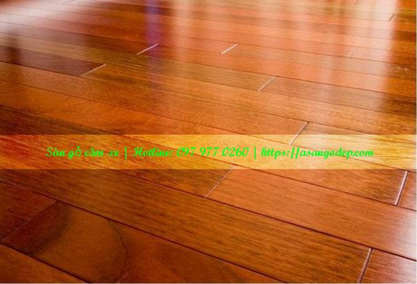 Sàn gỗ tự nhiên căm xe 18x120x1200