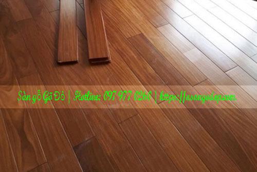 Sàn gỗ gõ đỏ 15x90x600
