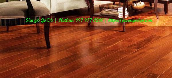 Sàn gỗ gõ đỏ 18x90x600