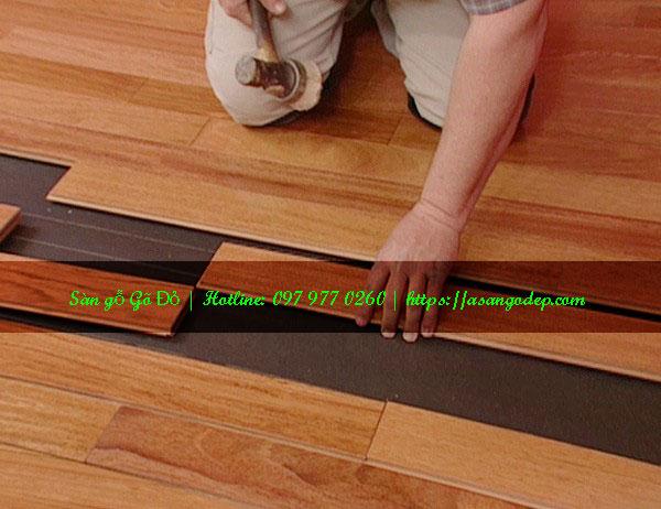 Sàn gỗ gõ đỏ 18x90x750