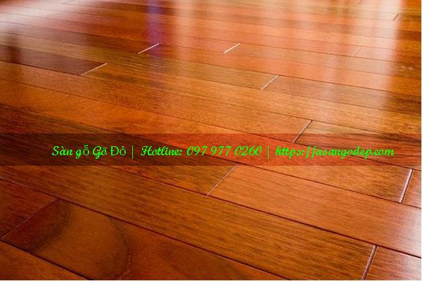 Sàn gỗ gõ đỏ 18x90x900