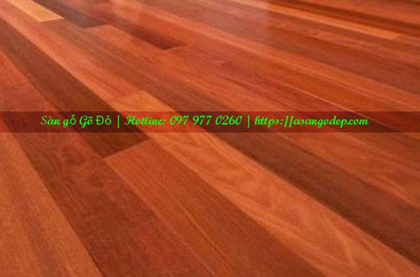 Sàn gỗ gõ đỏ 18x120x750