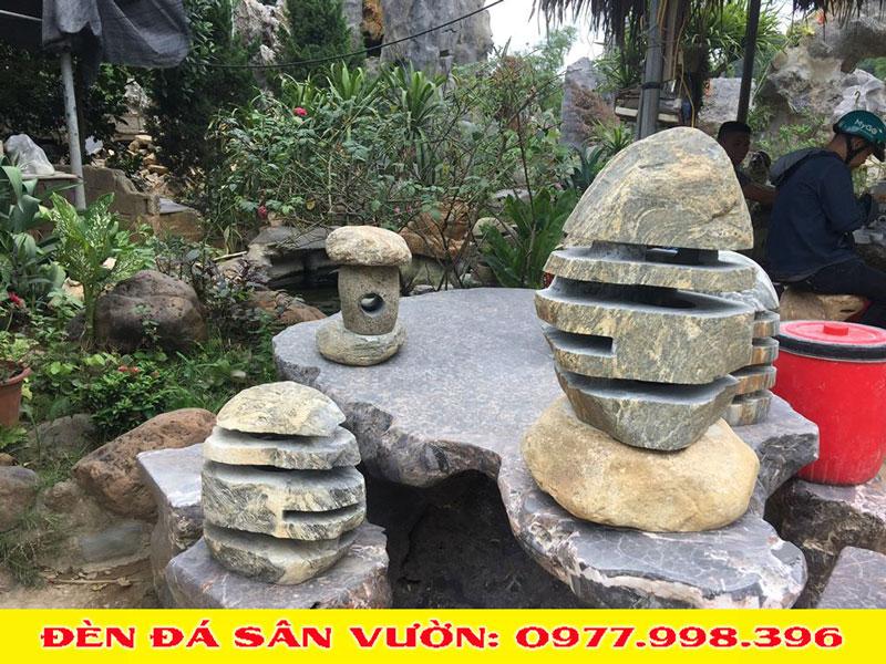 Đèn đá tiểu cảnh sân vườn Vĩnh Phúc