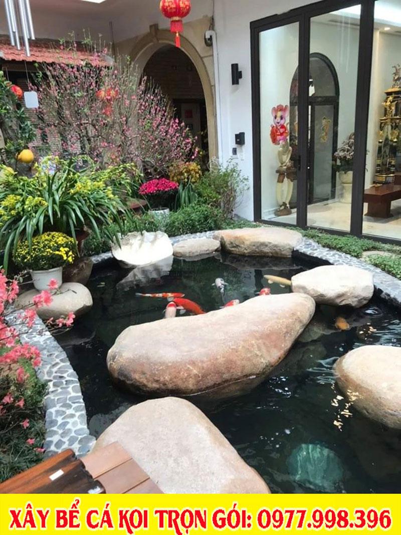 Mẫu tiểu cảnh sân vườn, bể cá koi 2020