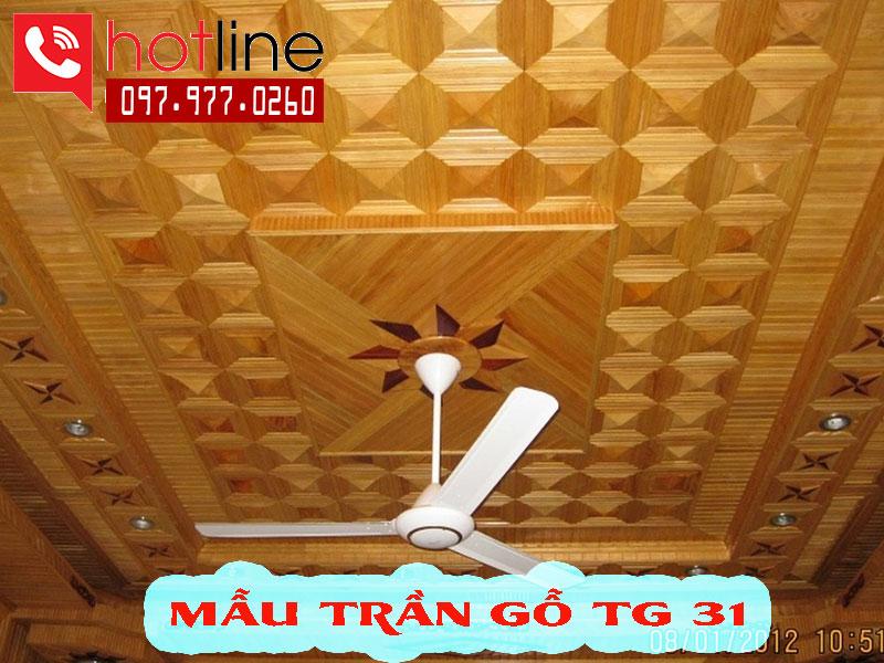 Mẫu trần gỗ TG A31