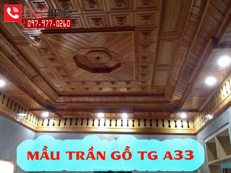 Mẫu trần gỗ TG A33