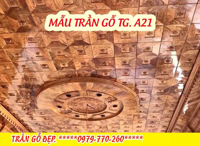 Mẫu trần gỗ TG A21