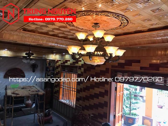 Trần gỗ tự nhiên Pơ Mu cao cấp tại Thái Nguyên