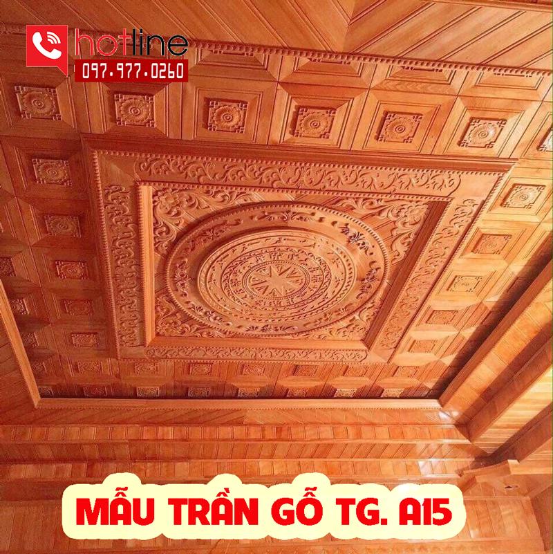 Mẫu trần gỗ TG A15