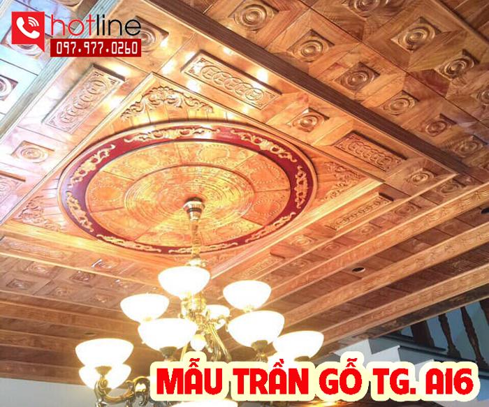Mẫu trần gỗ TG A16