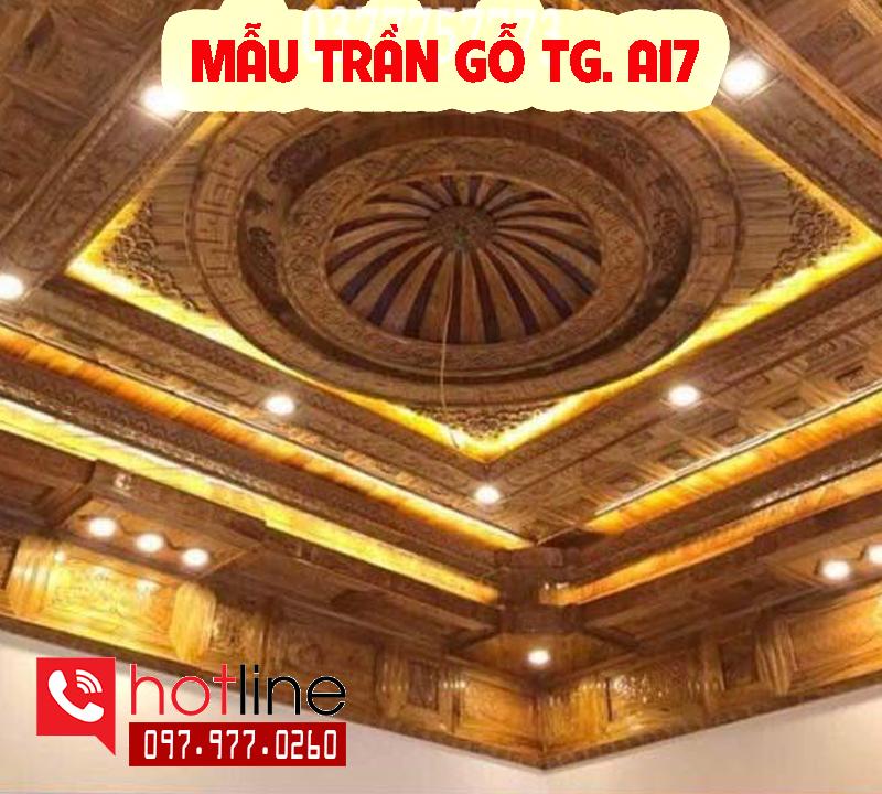 Mẫu trần gỗ TG A17